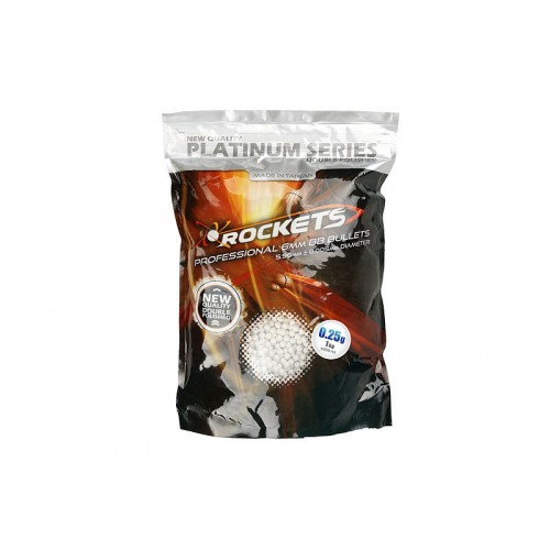 Rockets Platinum Series 0.25g BB pellets 1kg